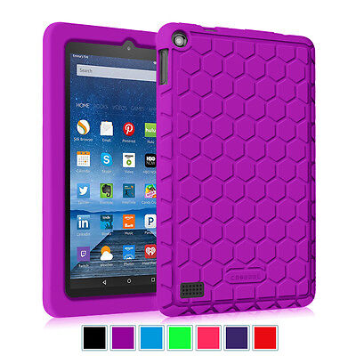 Fintie Kiddie Shock Proof Silicone Case Cover For Amazon Kindle Fire 7 5th 2015