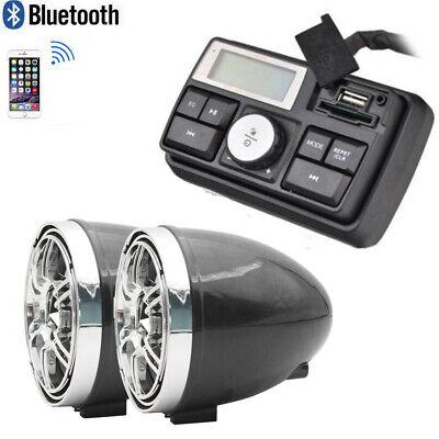 Motorcycle Bike Waterproof Marine Speakers Bluetooth Audio System