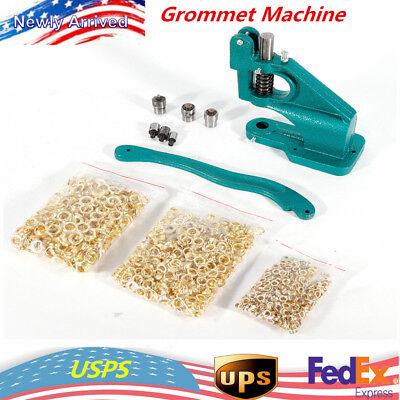 Grommet Machine 3 Die024 1500 Grommets Eyelet Hand Press Tool Banner Hot