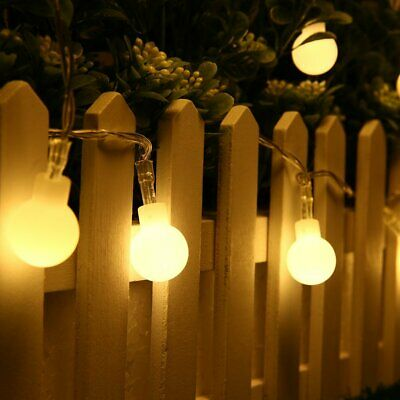 50 LED Bulb String Lights - 5m Cable - 8 Modes -...