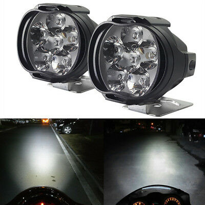 2Pcs Universal Car SUV Motorcycle LED Waterproof Lights Fog Light Headlight Lamp