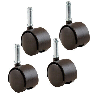 4 Pack Rubbermaid Office Chair Caster Wheels 1.5 Friction-grip Stem M13b0300