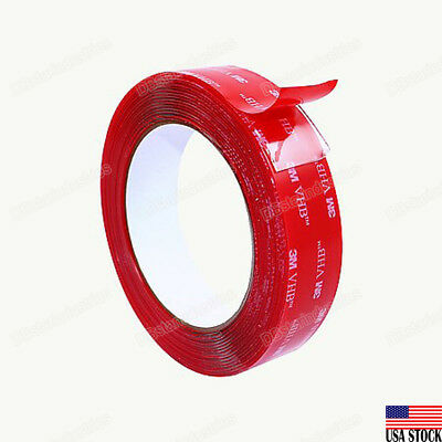 3m 4910 Vhb Heavy Duty Transparent Double Sided Tape 1 Inch Width 9ft Clear