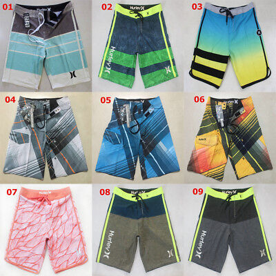 FASUWAVE Mens Swim Trunks Autumn Watercol Quick Dry Beach Board Shorts with Mesh Lining