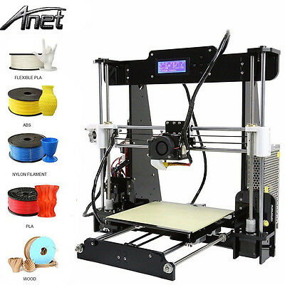 Anet A8 Intoxication Accuracy 3D Desktop Printer Prusa i3 DIY Kit LCD ScreenUSA -Black