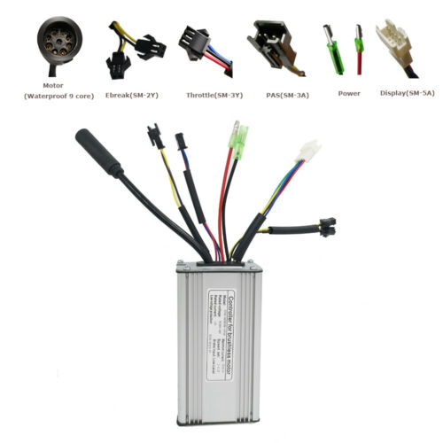 Electric bike 36V 250W 350W 500W brushless gear waterproof controller /& display