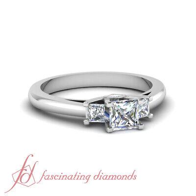 1.75 Carat Princess Cut Natural Diamond Engagement Rings For Women GIA Certified