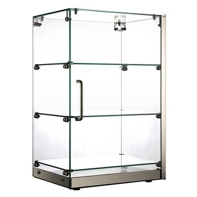 Marchia Sa60 16 Vertical Straight Glass Countertop Dry Display Case 3 Shelves