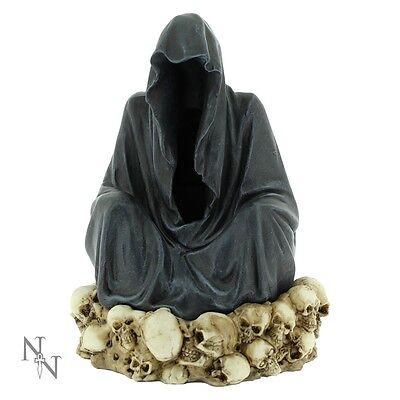 NEMESIS NOW INCENSE HOLDER/FIGURE *THRONE DE LA MORT* BNIB GOTHIC/SKULLS/REAPERS