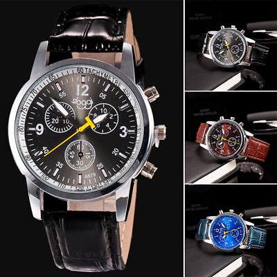 Schwarz Faux Krokodil (Luxus Mode Sport Herrenuhr Krokodil Faux Leder Analog Quarz Armbanduhren Watches)