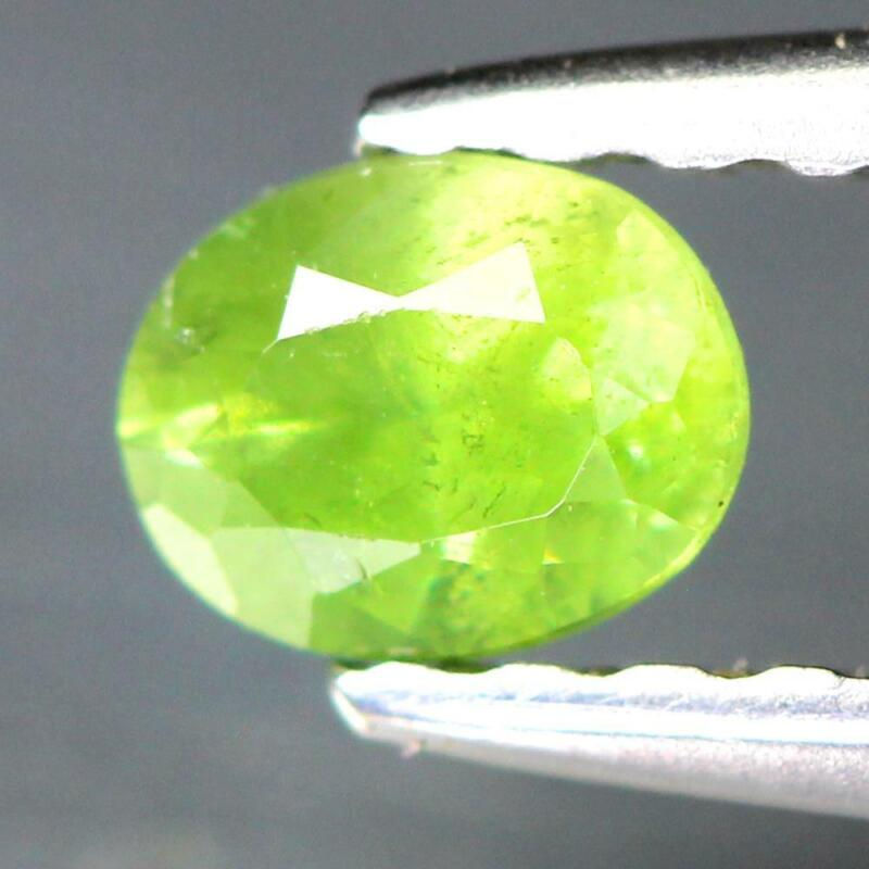 Certificate Include 0.24Cts Natural Green Demantoid Garnet Oval Loose Gemstone