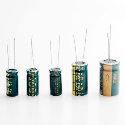 2 Pcs 2200uf 25v 35v 50v High-frequency Electrolytic Capacitors
