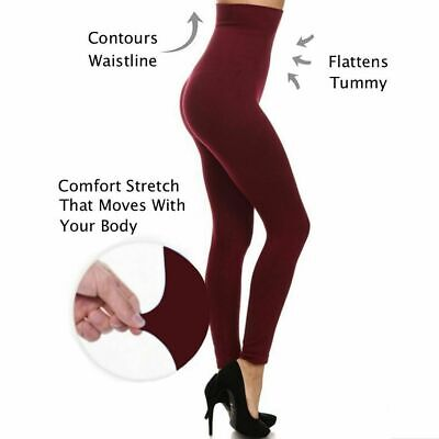 Yelete No More Muffin Top High Waisted Compression Tummy Control Leggings Muffin Top Waist