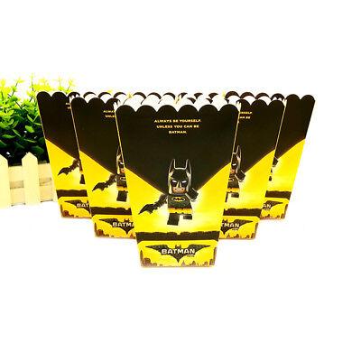 6pcs/lot Popcorn Box for Kids Children Batman Baby Theme Birthday Party (Baby Batman Party Supplies)