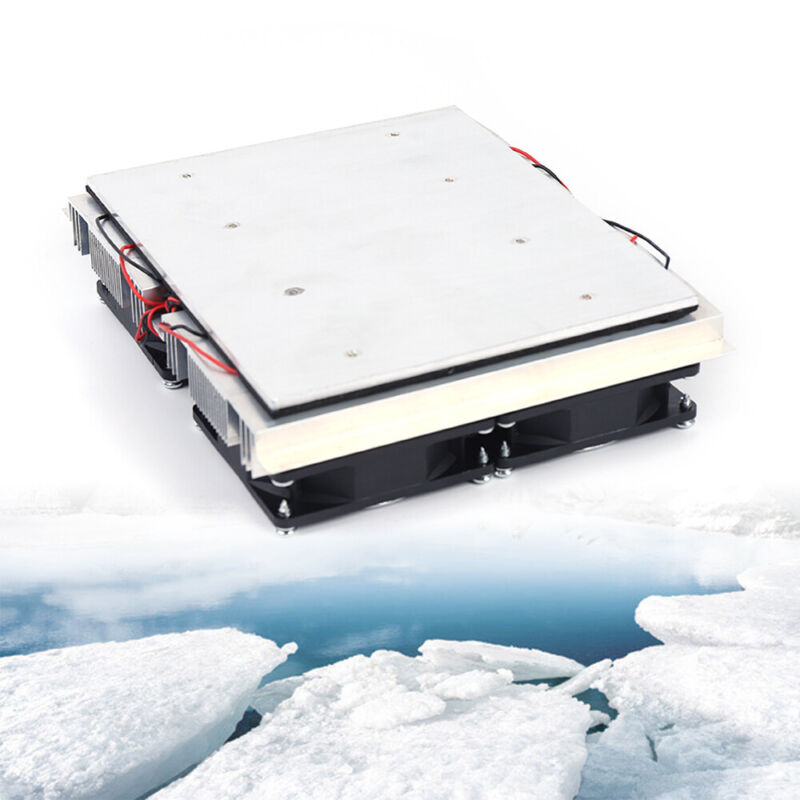 240W Semiconductor Refrigeration Peltier 4 Cold Cooling Plate Cooler Fan equip