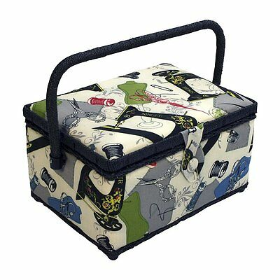 Sewing Basket Box Kit Accessories Professional Case Organizer Storage Travel New