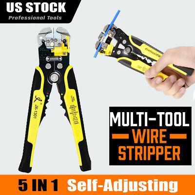 8 Multi Wire Stripper Cutter Crimper Professional Crimping Hand Tool Spring