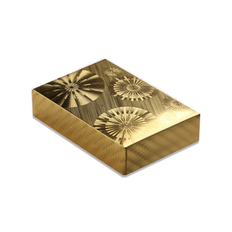 24K Gold Foil Poker Playing Cards Waterproof Plastic Set with Gift Box #