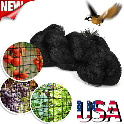 "50x100FT Anti Bird Netting Garden Poultry Aviary Game Net Nylon 2"" Mesh Screen"