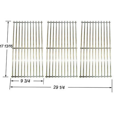Replacement Stainless Steel Cooking Grate for Gas Grill Master Forge P3018 3pack