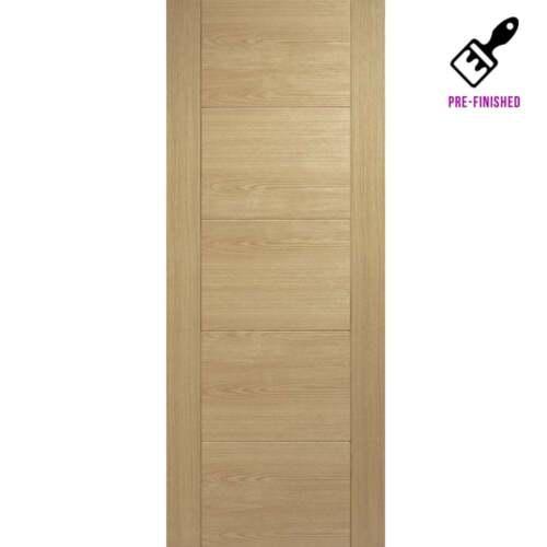 Internal Oak Pre-Finished Doors VANCOUVER 5 Panel Flush Ladder Modern Wood Door