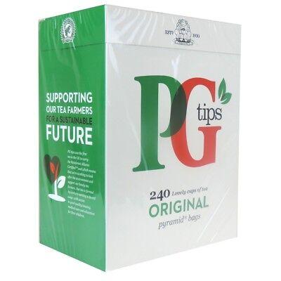 PG Tips 240 x Pyramid Tea Bags British 750g Worldwide Delivery No.1 English Tea