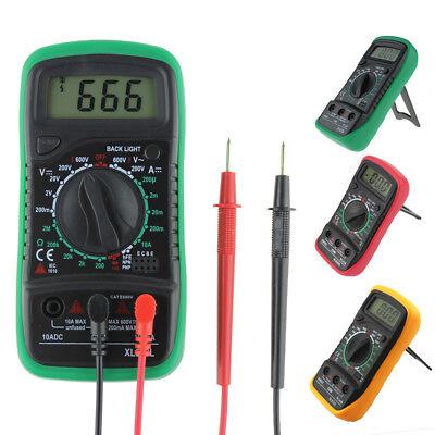 Digital Lcd Multimeter Voltmeter Ammeter Dc Ohm Circuit Tester Checker Buzzer Us