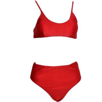 Costume da bagno donna bikini swimwear con culotte brasiliana a vita alta e top