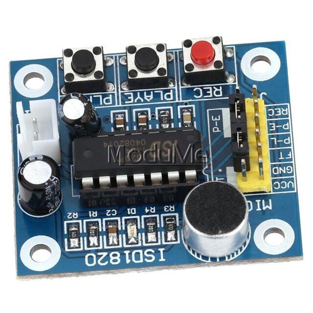 ISD1820 Sound Voice Recording Playback Module+Mic Sound Audio Microphone MO