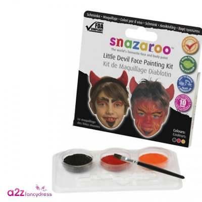 Devil Face Painting Kit Kids Boys Girls Halloween Make-Up Snazaroo  (Boys Halloween Face Paint)