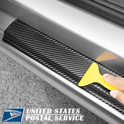 Car Parts - For Auto Parts Accessories Carbon Fiber Vinyl Car Stickers Door Sill Protector
