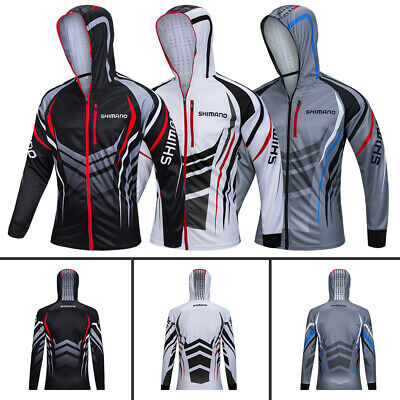 Men Fishing Shirt Clothes Breathable Long Sleeve Quick Dry Tops Sunproof Hoodies