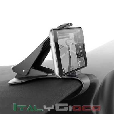 Supporto da Auto Cruscotto con Clip Porta Cellulare per Smartphone GPS MP4 Nero