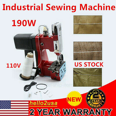 110v 190w Electric Bag Stitching Closer Seal Sewing Machine F Rice Sack Us Ship
