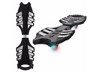 Caster Board, Greatever Skateboard Waveboard with Illuminating Wheels, Hand Grip, Carry Bag,