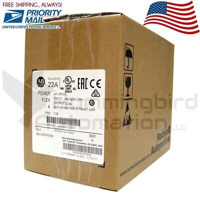2019 New Sealed Allen Bradley 22a-d2p3n104 Powerflex 4 Ac Drive 1hp 0.75kw