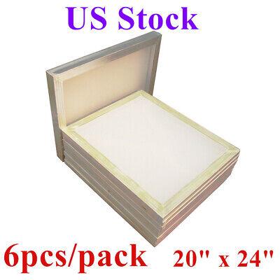 Usa 20 X 24 Aluminum Frame Silk Screen Printing Screens With 160 Mesh 6pcs
