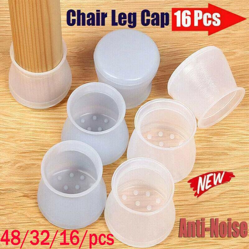 Table Desk Feet Black PVC Plastic Protector Chair Leg Tip Pad Cap Covers J1QTC