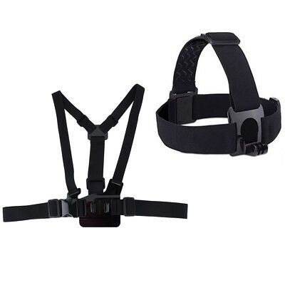Elastic Adjustable Chest Strap and Head Strap For SJCAM Action Sport Camera