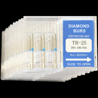 10 Boxes Tr-25 Mani Dia-burs Fg 1.6mm Dental High Speed Handpiece Diamond Bur