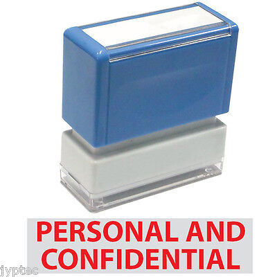 Jyp Pa1040 Pre-inked Rubber Stamp W. Personal And Confidential