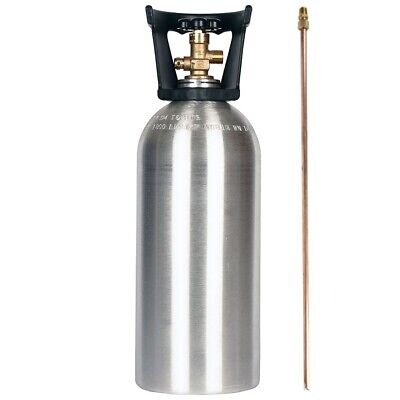 10 Lb. New Aluminum Co2 Cylinder With Siphon Tube Cga320 Handle - Dot Approved
