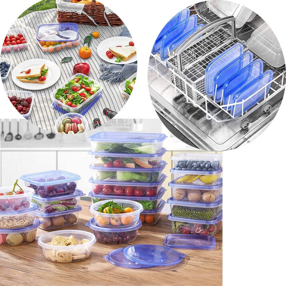 Set 27 Contenitori Per Alimenti Con Coperchio Porta Pranzo Lavabili SalvaSpazio