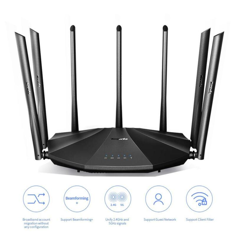 Tenda AC23 AC2100 Smart WiFi Router - Dual Band Gigabit Wireless (up to 2033 Mbp