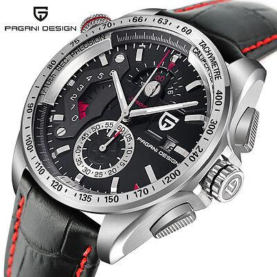 PAGANI DESIGN Mens Luxury Date Pilot Military Quartz Wrist Watch Genuine (Design Pilot)
