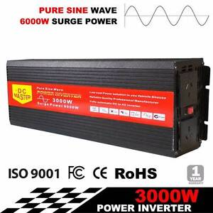 PURE SINE WAVE 3000W MAX 6000W 12V-240V Sydney City Inner Sydney Preview