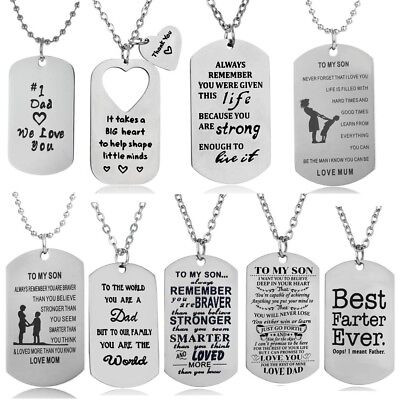Christmas Gift Mother Father Son Daughter Necklace Pendant Best Friend