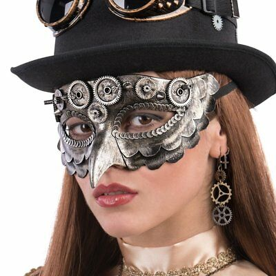 Steampunk OWL Mask COGS Masquerade Halloween Robotic Fancy - Owl Mask