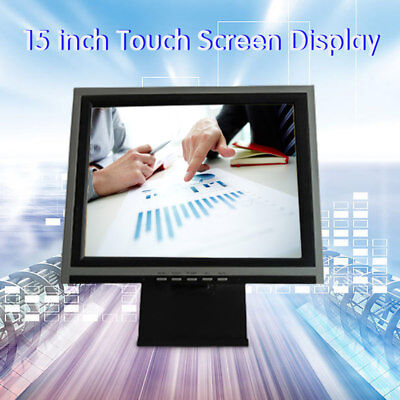 15 Tftled Vga Touch Screen Monitor Pos Restaurant Pub Kiosk Retail Systems Us