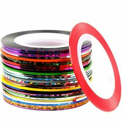 30 Rolls Mixed Color Striping Tape Line DIY Nail Art Tips Decoration Sticker Health & Beauty